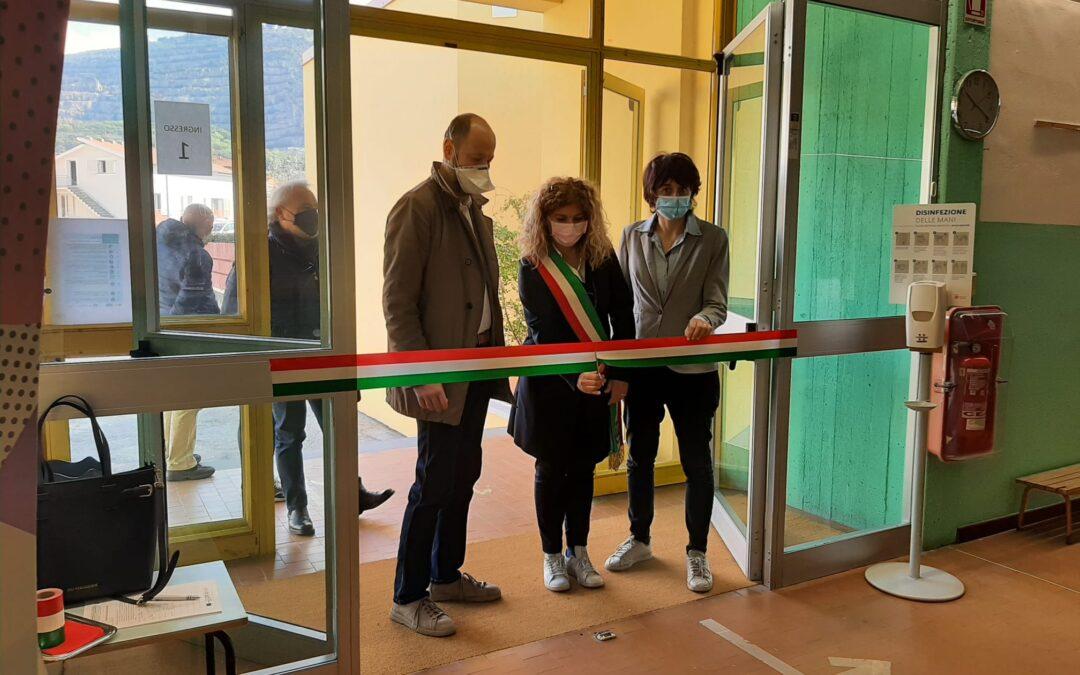 Inaugurazione del 19 aprile 2021 dei locali ristrutturati della Scuola Falcone